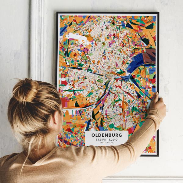 City-Map Oldenburg im Stil Kandinsky