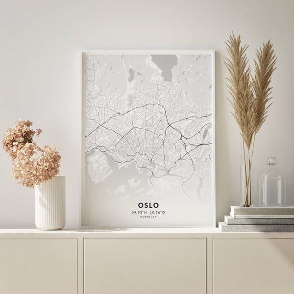 City-Map Oslo im Stil Elegant