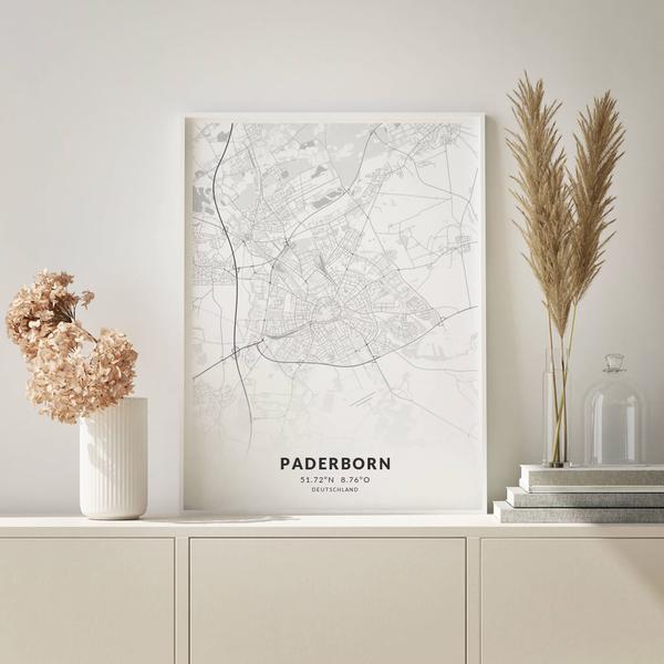 City-Map Paderborn im Stil Elegant