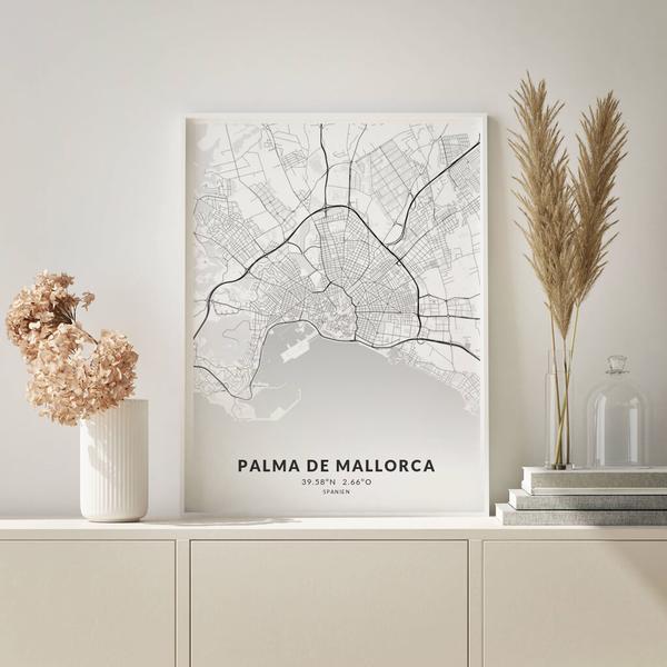 City-Map Palma De Mallorca im Stil Elegant