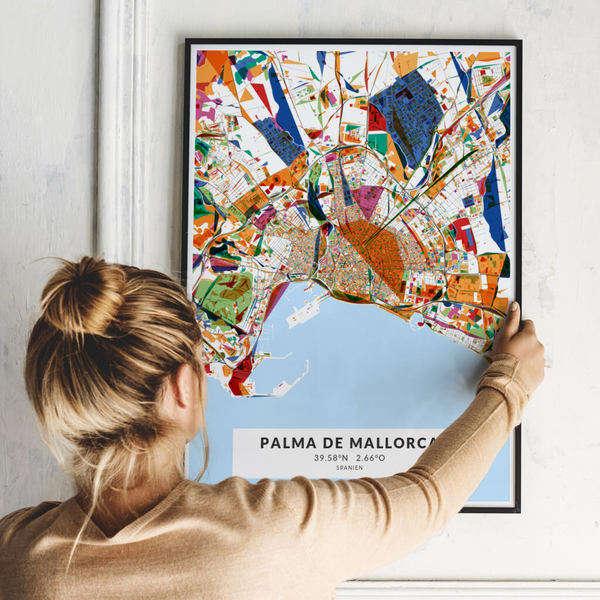 City-Map Palma De Mallorca im Stil Kandinsky