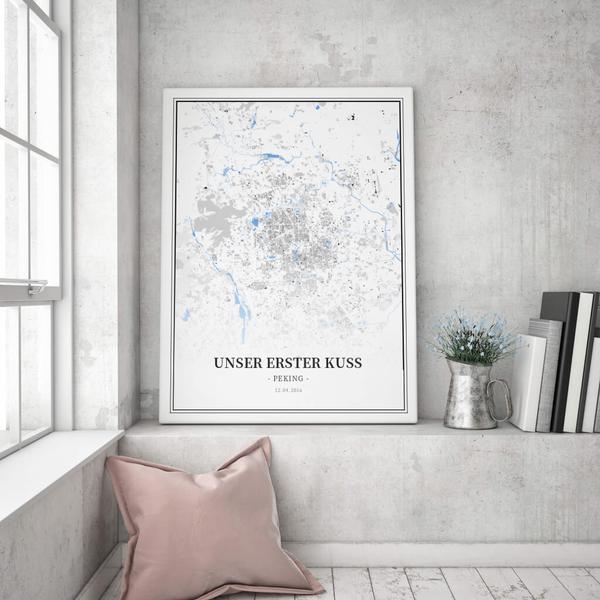 Stadtkarte Peking im Stil Schwarzplan