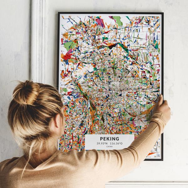 City-Map Peking im Stil Kandinsky