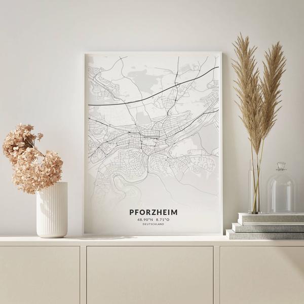 City-Map Pforzheim im Stil Elegant