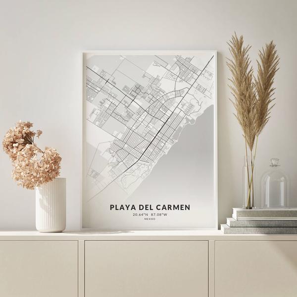 City-Map Playa Del Carmen im Stil Elegant
