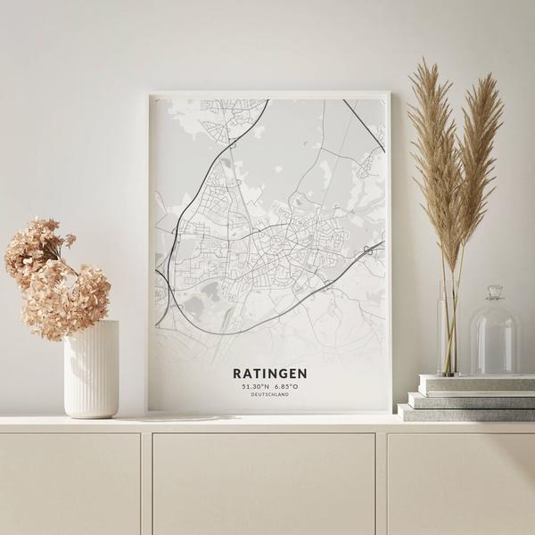 City-Map Ratingen im Stil Elegant
