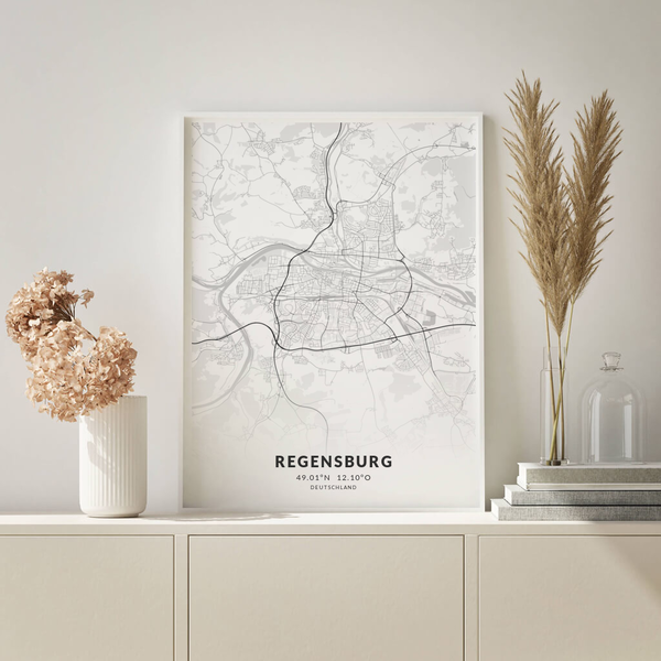 City-Map Regensburg im Stil Elegant
