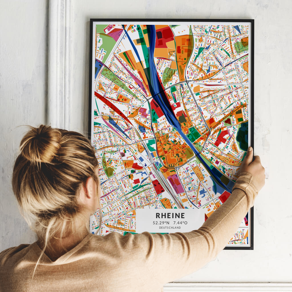 City-Map Rheine im Stil Kandinsky