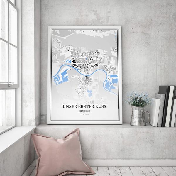 Stadtkarte Rinteln im Stil Schwarzplan