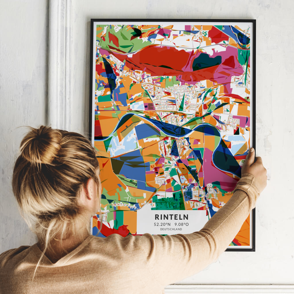 City-Map Rinteln im Stil Kandinsky