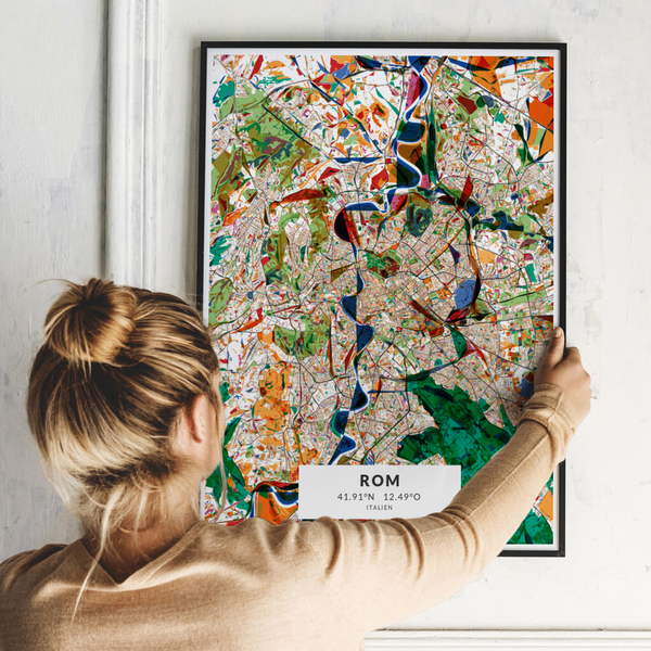 City-Map Rom im Stil Kandinsky
