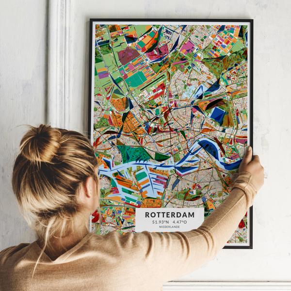 City-Map Rotterdam im Stil Kandinsky