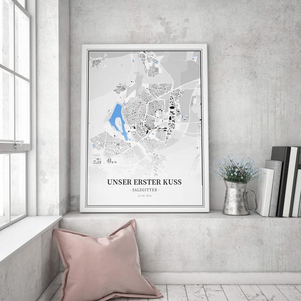 Stadtkarte Salzgitter im Stil Schwarzplan