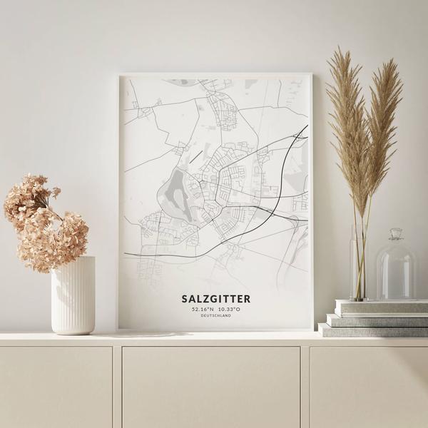 City-Map Salzgitter im Stil Elegant