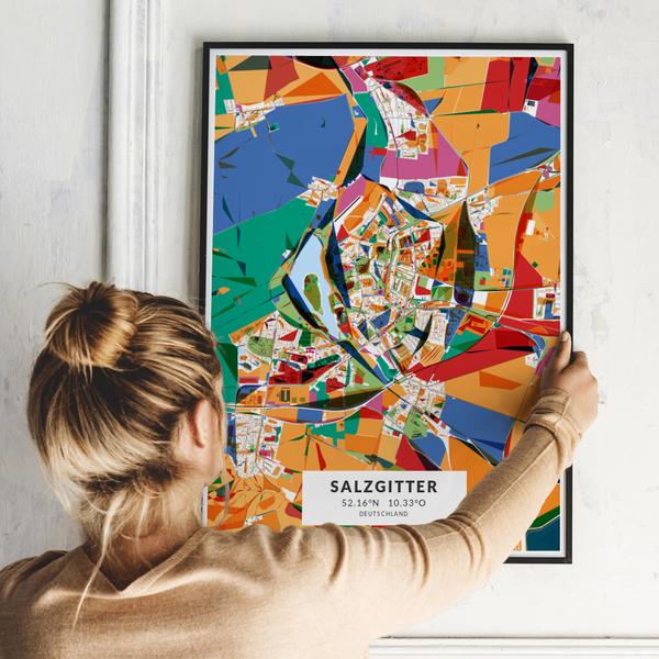 City-Map Salzgitter im Stil Kandinsky