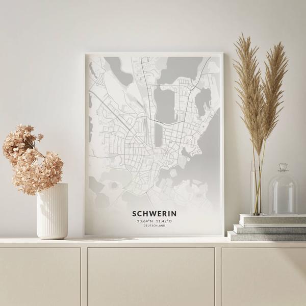 City-Map Schwerin im Stil Elegant