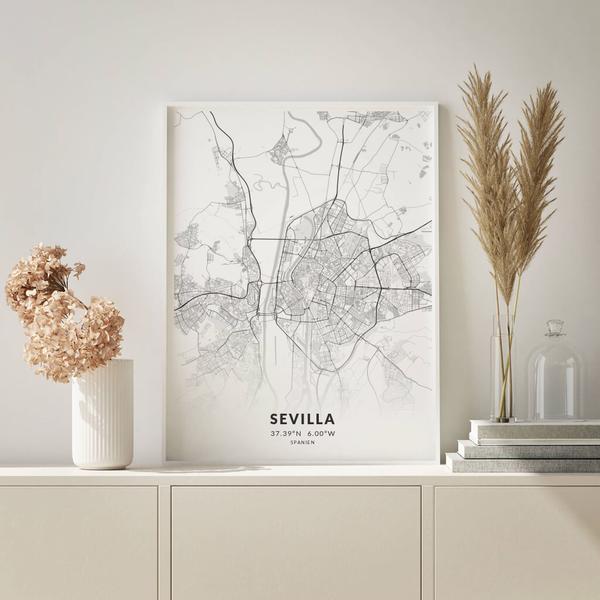 City-Map Sevilla im Stil Elegant