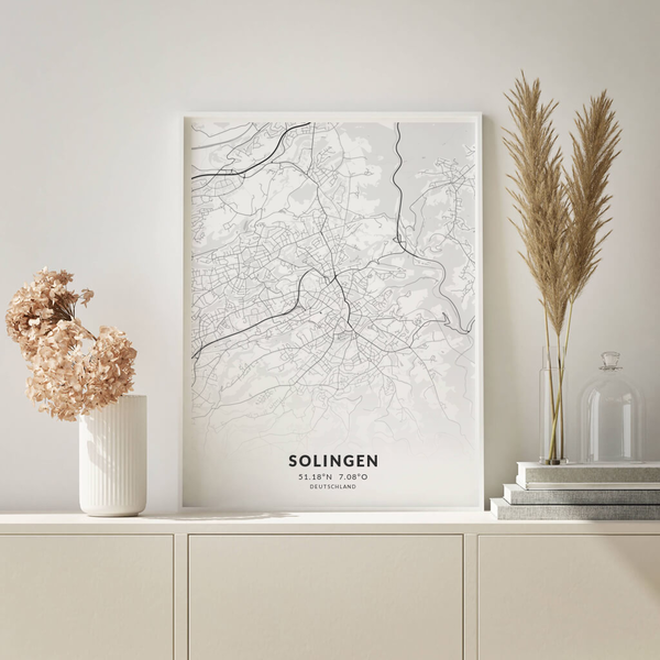 City-Map Solingen im Stil Elegant