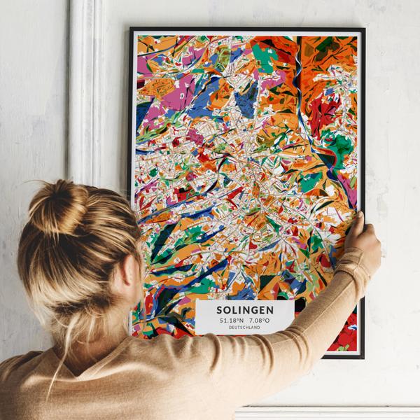 City-Map Solingen im Stil Kandinsky