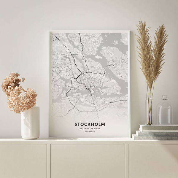 City-Map Stockholm im Stil Elegant
