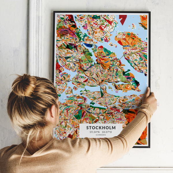 City-Map Stockholm im Stil Kandinsky