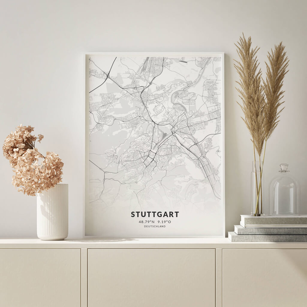 City-Map Stuttgart im Stil Elegant