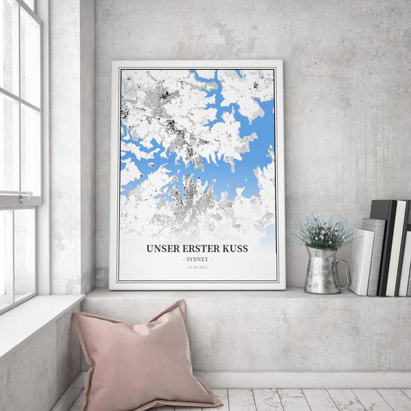 Stadtkarte Sydney im Stil Schwarzplan