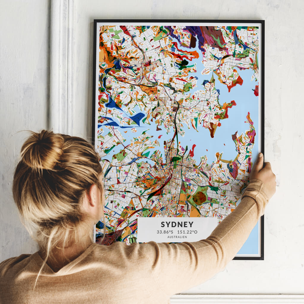 City-Map Sydney im Stil Kandinsky