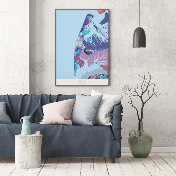 Stadtkarte Sylt im Stil Primavera