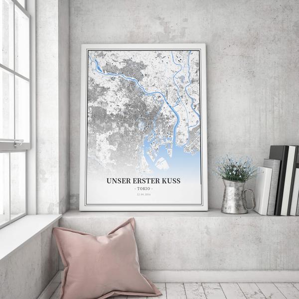 Stadtkarte Tokio im Stil Schwarzplan