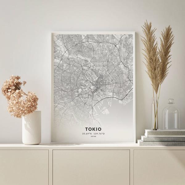 City-Map Tokio im Stil Elegant