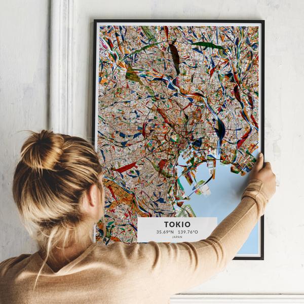 City-Map Tokio im Stil Kandinsky