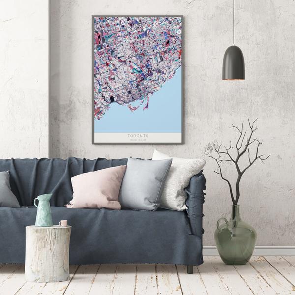 Stadtkarte Toronto im Stil Primavera