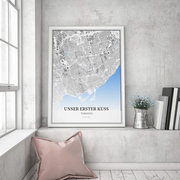 Stadtkarte Toronto im Stil Schwarzplan