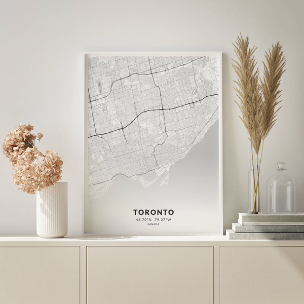 City-Map Toronto im Stil Elegant