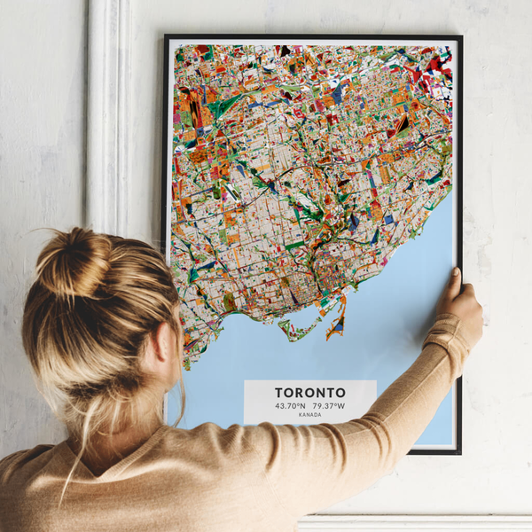 City-Map Toronto im Stil Kandinsky