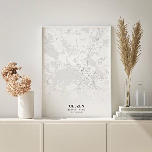 City-Map Uelzen im Stil Elegant