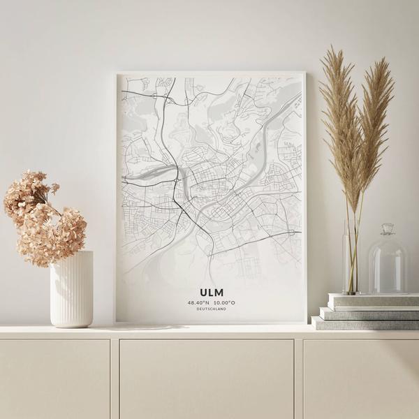 City-Map Ulm im Stil Elegant