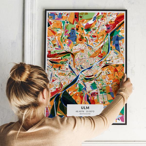 City-Map Ulm im Stil Kandinsky