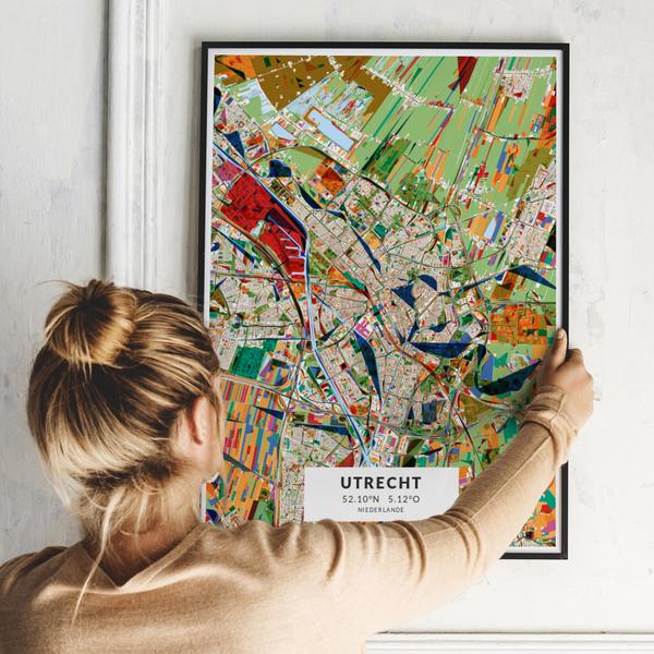 City-Map Utrecht im Stil Kandinsky
