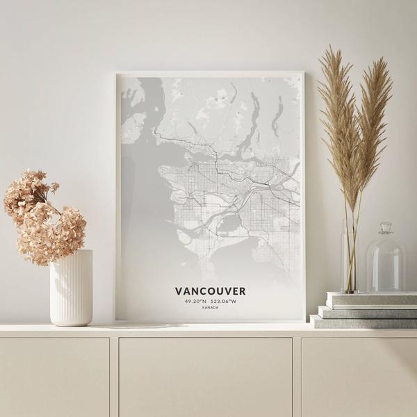 City-Map Vancouver im Stil Elegant