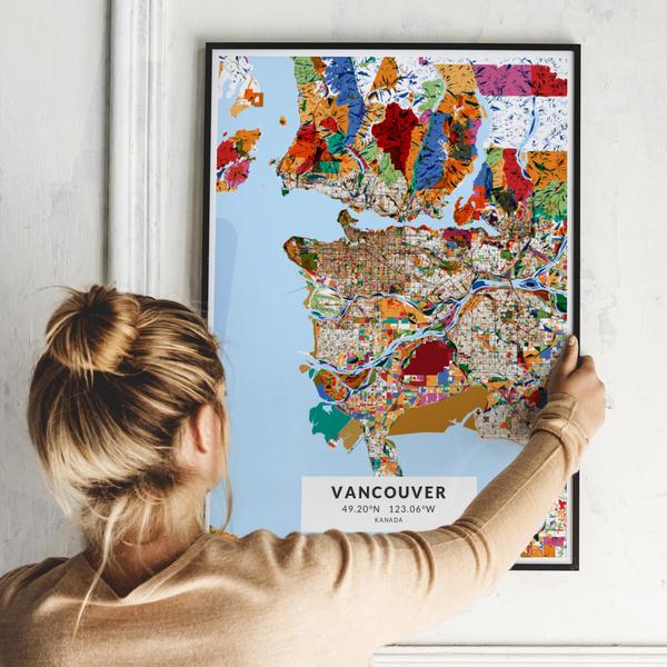 City-Map Vancouver im Stil Kandinsky