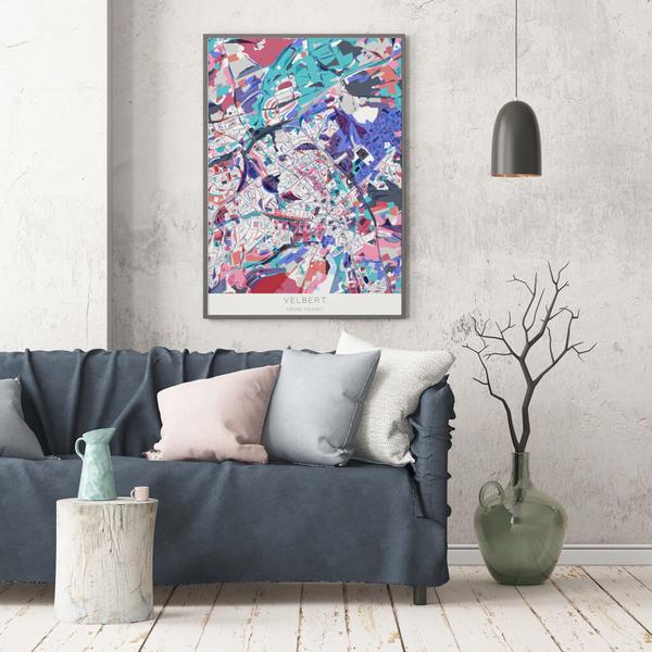 Stadtkarte Velbert im Stil Primavera