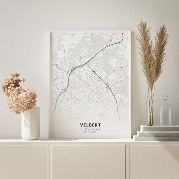 City-Map Velbert im Stil Elegant