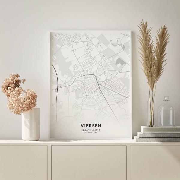 City-Map Viersen im Stil Elegant