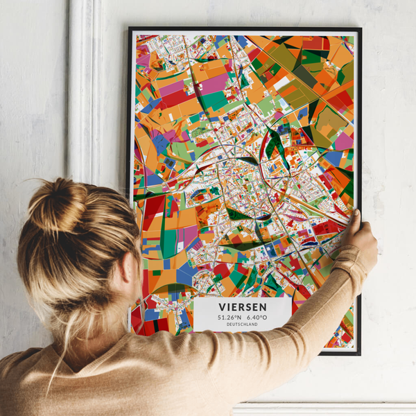 City-Map Viersen im Stil Kandinsky
