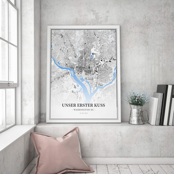 Stadtkarte Washington Dc im Stil Schwarzplan