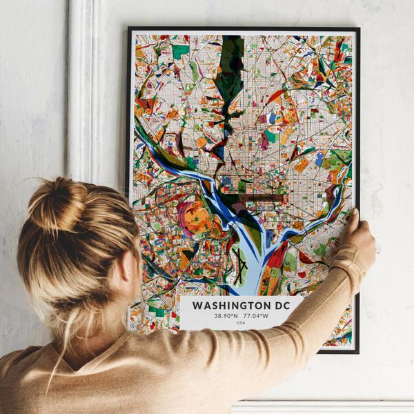 City-Map Washington Dc im Stil Kandinsky