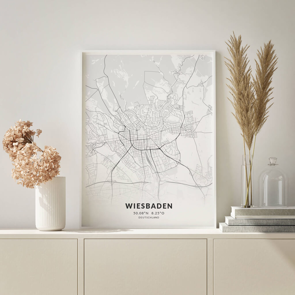 City-Map Wiesbaden im Stil Elegant