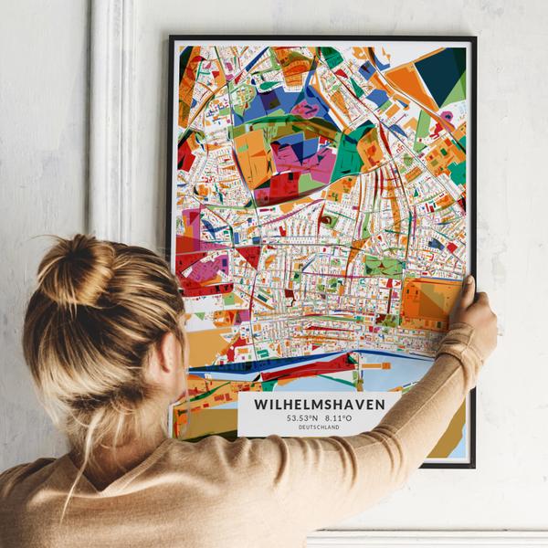 City-Map Wilhelmshaven im Stil Kandinsky